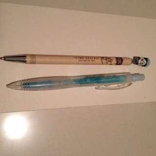 Mini coffee and blue mechanical pecils