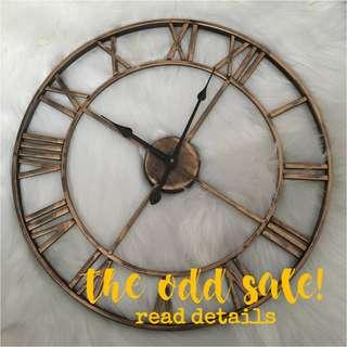 SALE-American Home Wrought Iron Clock 47cm | Ready stock
