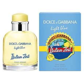 D&G Light Blue Italian Zest Men Perfume Tester
