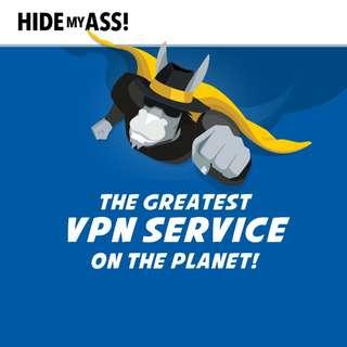 Hide My Ass! HMA Pro VPN (New - Own Account / Not Sharing)