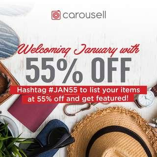 Welcoming January With 55% Off