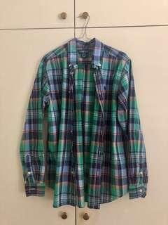 Ralph Lauren Plaid Cotton Button Up Shirt