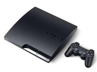 PS3 Slim Console with 2 controllers