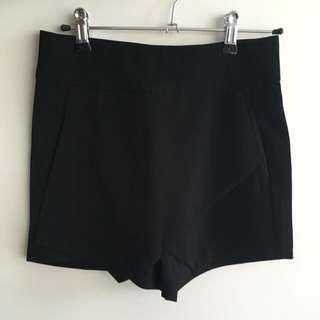 [REDUCED] High-Waist Black Shorts With Skirt Overlay BNWOT