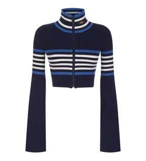 Fenty Puma Zip-up Turtleneck Crop Sweater