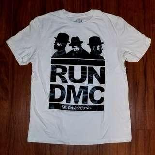 RUN DMC White And Black Crew Neck Shirt