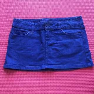 DOTTI Electric Blue Denim Mini Skirt