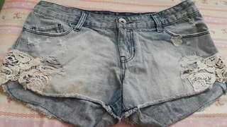 JEANS HOT PANTS STRADIVARIUS DENIM