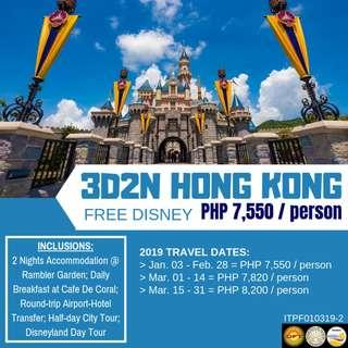 3D2N Hong Kong with Free Disney