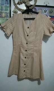 Stripes Button Down Dress