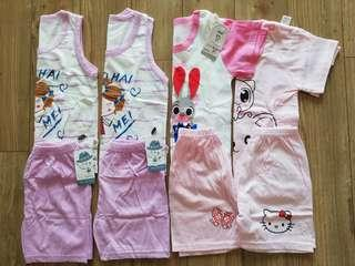 4 sets new baby home wear