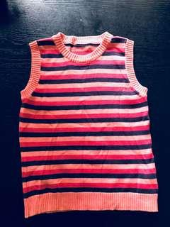 Girls knitted sleeveless top