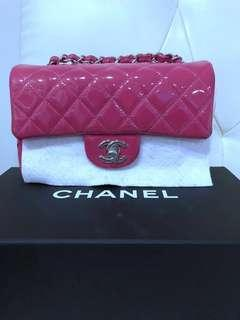 Chanel Mini rectangle In patent pink