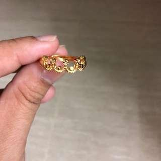 Beautiful Vietnam Gold Plated Adjustable Crown Ring