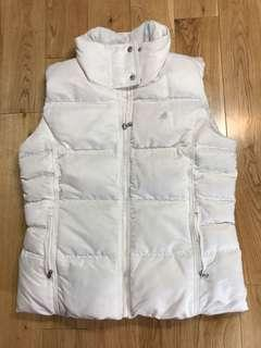 Adidas white puffer down vest size large