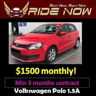 Volkswagen Polo 1.4A Long Term Car Rental