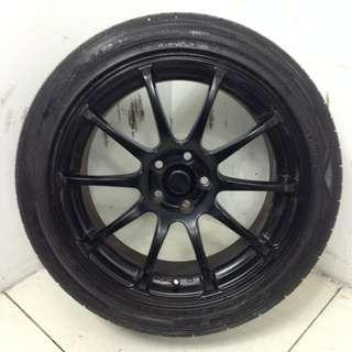 "17"" Sports Rim With Tyres 5X100 (SR1532)"