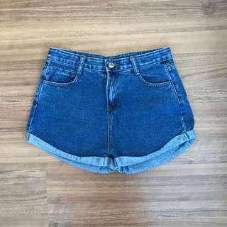 Denim Fold Shorts