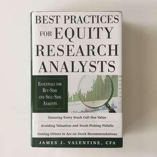 Best Practices for Equity Research Analysts: Essentials for Buy-Side and Sell-Side Analysts - James Valentine