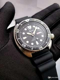 🚚 * FREE DELIVERY * Made In Japan Brand New 100% Authentic Seiko Prospex Black Turtle on Rubber Strap Mens Automatic Divers Watch SRP777 SRP777J