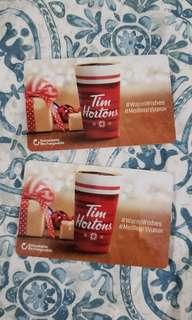Reloadable Tim's cards