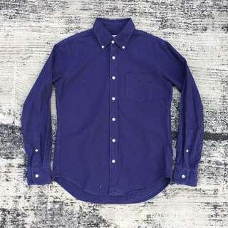 Global work japan purple oxford shirt