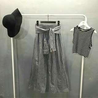 Ribbon stripes cullotes