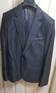 Grey Wool/Silk Zara Suit