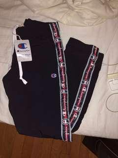 CHAMPION LOGO STRIPED TRACK PANTS