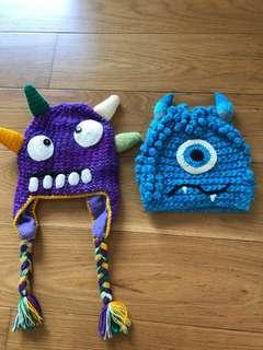 Kids Beanies Monster