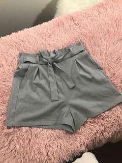 Women's high waist paper bag shorts size small
