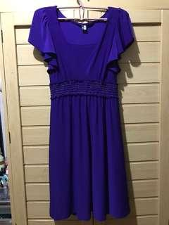 Purple formal cocktail dress