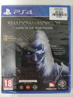 PS4 Middle-Earth Shadow of Mordor GOTY Edition