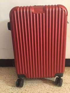 New koper / luggage polo Asia 20 inch cabin merah metalik