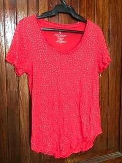 Juicy Couture Coral Polka Shirt