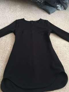 Black long sleeve dress size 10