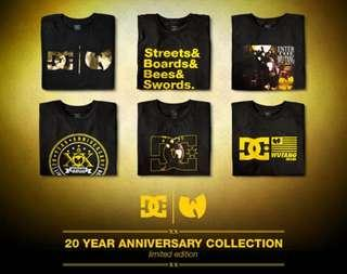 Limited DC X WU TANG tee anniversary collection