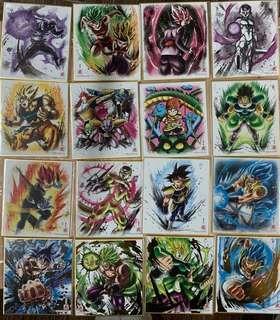 全新 基本16張 龍珠 dragon ball z 超 DB 色紙 art part 7 布洛尼