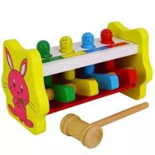 Interactive Children Early Education Toy Wooden Percussion Hit Game