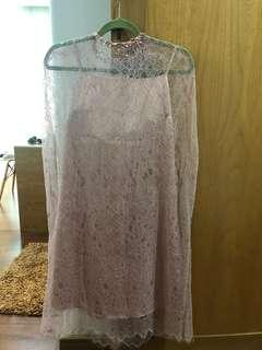 By Saturday dusty pink lace dress