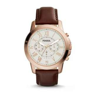 🚚 Fossil Leather Watch FS4991