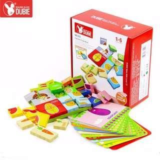 Children Educational Creative Fruits Vegetables Blocks Bricks Puzzle Toys