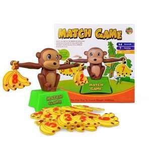Toy Monkey Mathematical Educational Calculation Banana Balance Game