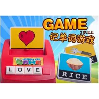Baby Kids Early Learning Toy Literacy Fun Game Spelling Board Game