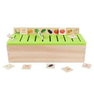 Children Baby Early Learning Educational Toys Shape Paired Assortment Wooden Box