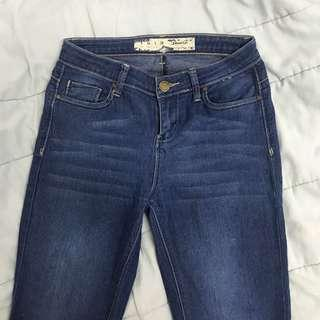 denim & co dark blue denim jeans