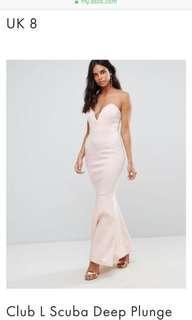 🚚 BNWT club L deep plunge dress