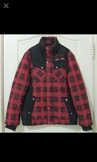 🚚 NT$400含運【二手】Big Train 羅志祥代言 高橋盾 立領黑紅格紋 鋪棉外套