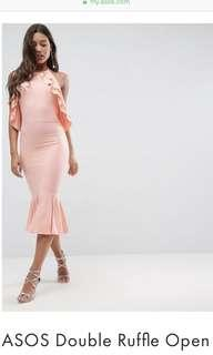 🚚 BNWT ASOS double ruffles open dress