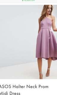 🚚 BN ASOS halter midi prom dress